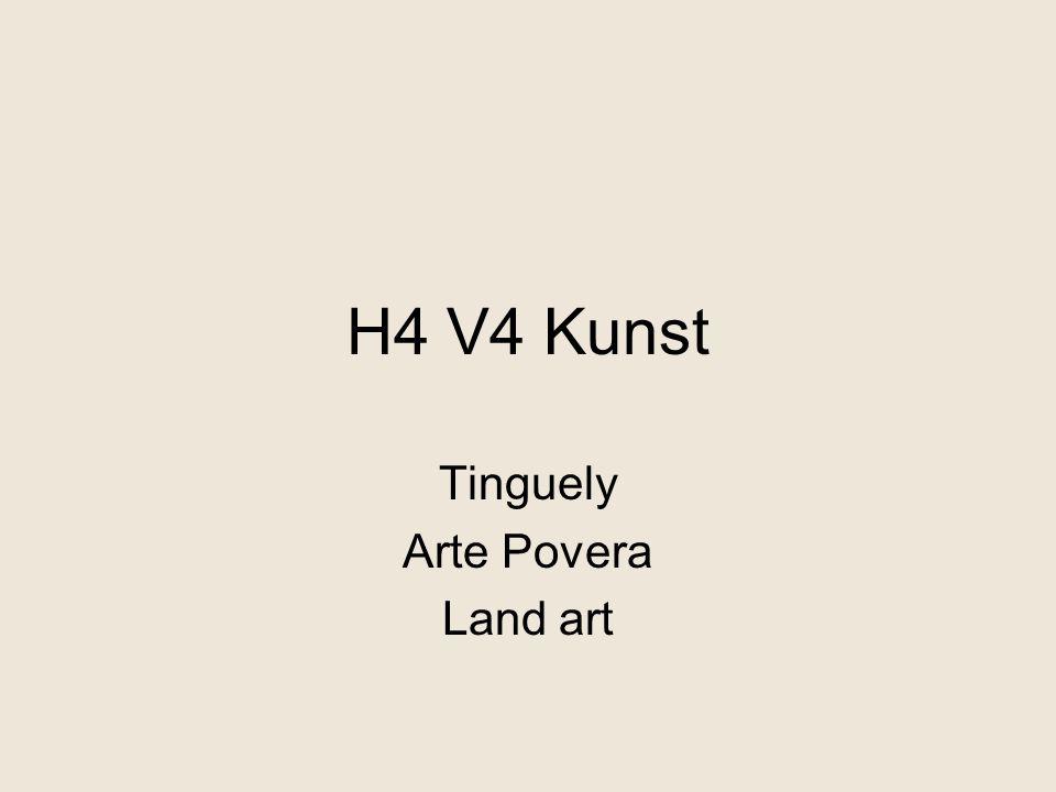 Tinguely Arte Povera Land art