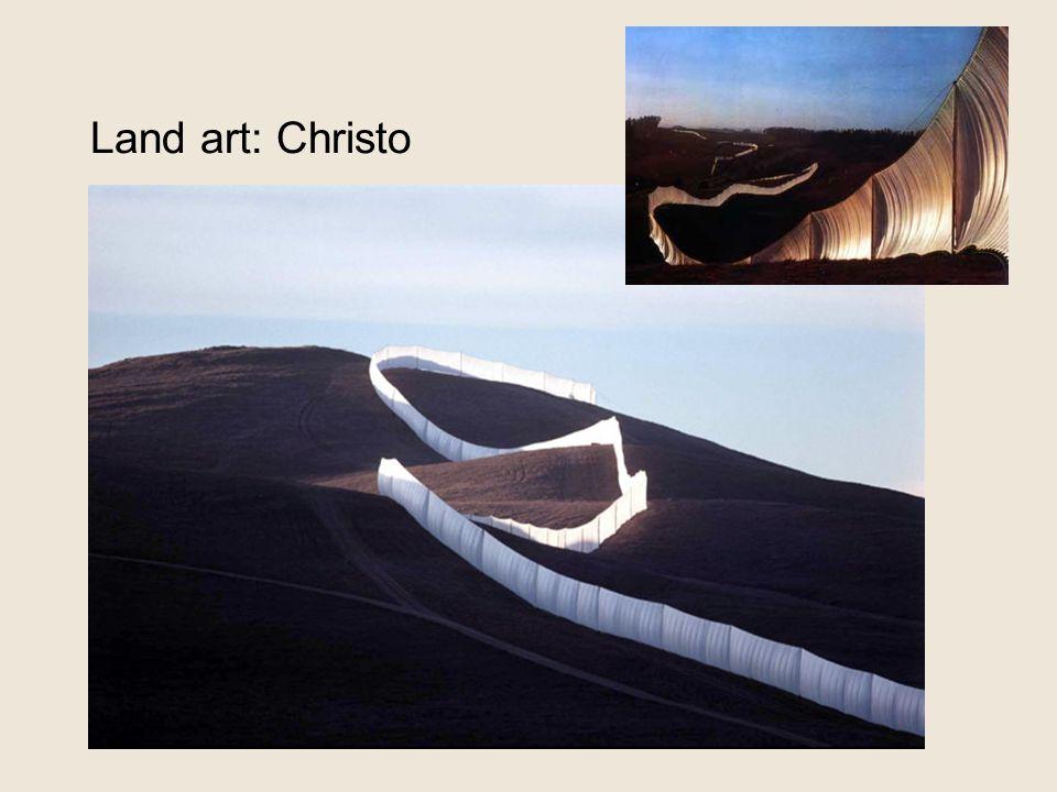 Land art: Christo 'running fence'