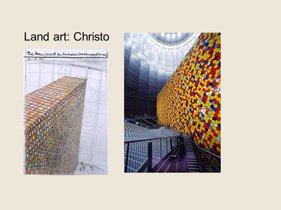Land art: Christo 1999: 'the wall'