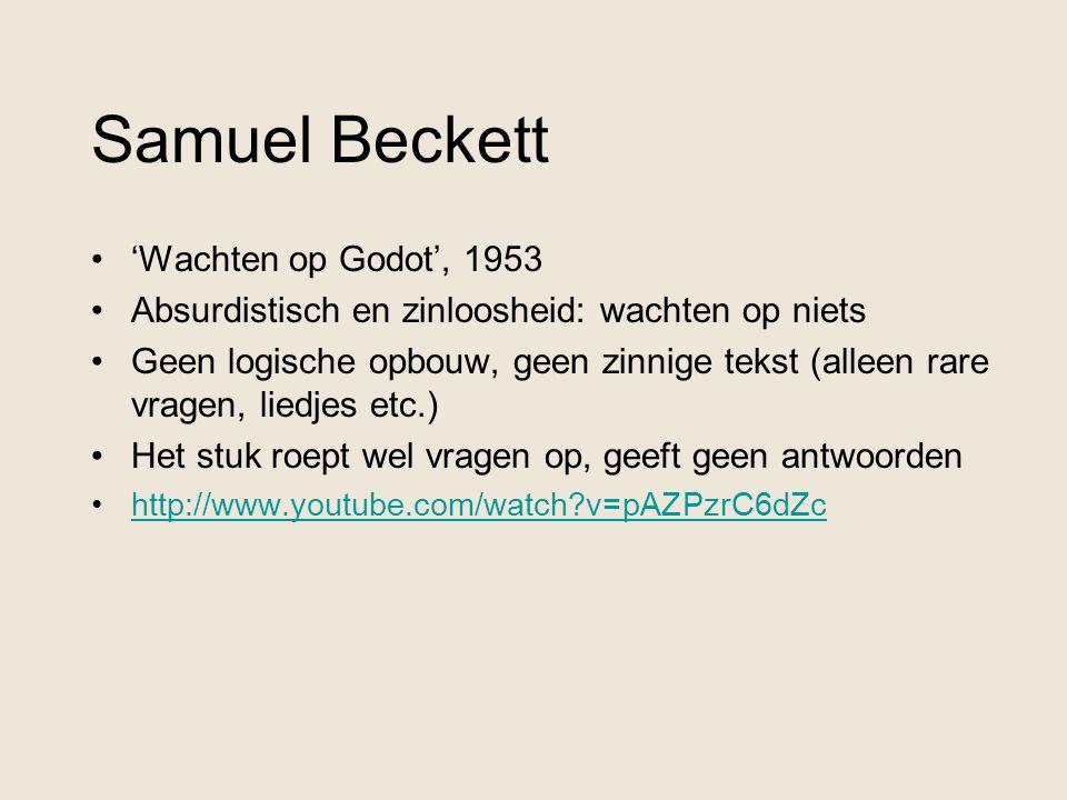 Samuel Beckett 'Wachten op Godot', 1953