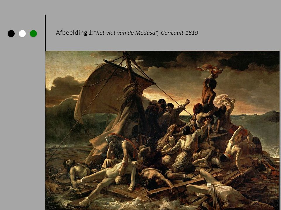 Afbeelding 1: het vlot van de Medusa , Gericault 1819
