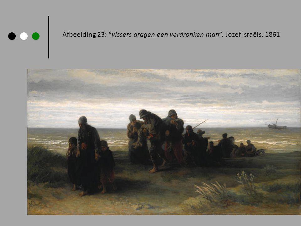 Afbeelding 23: vissers dragen een verdronken man , Jozef Israëls, 1861