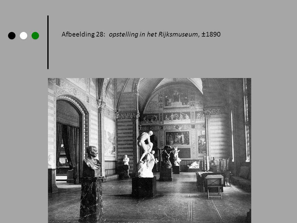 Afbeelding 28: opstelling in het Rijksmuseum, ±1890