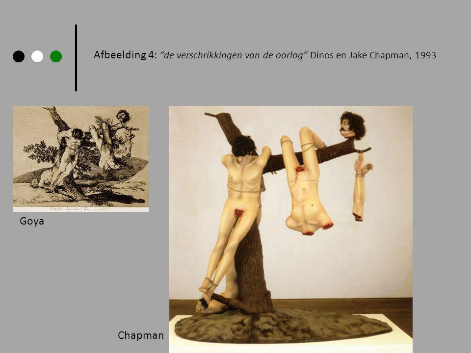 Afbeelding 4: de verschrikkingen van de oorlog Dinos en Jake Chapman, 1993