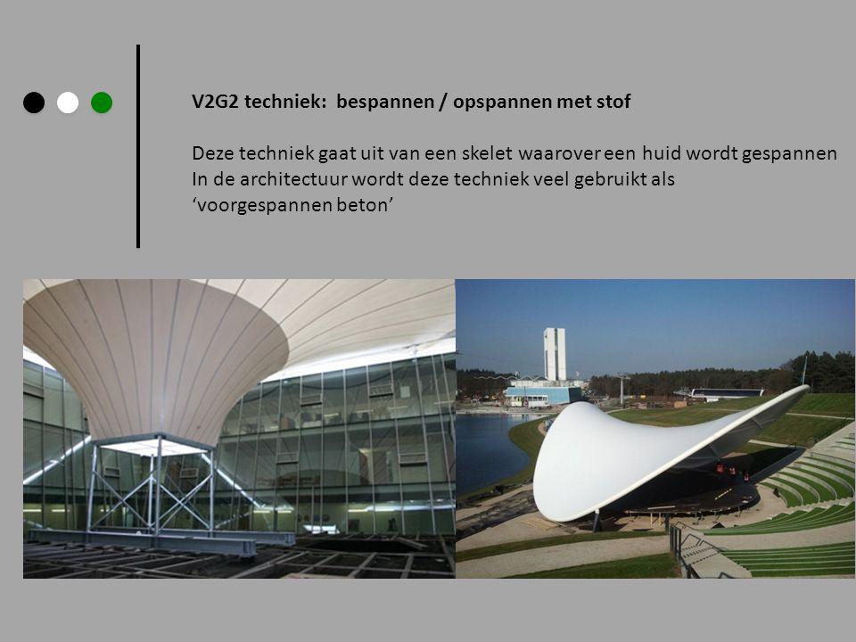 V2G2 techniek: bespannen / opspannen met stof