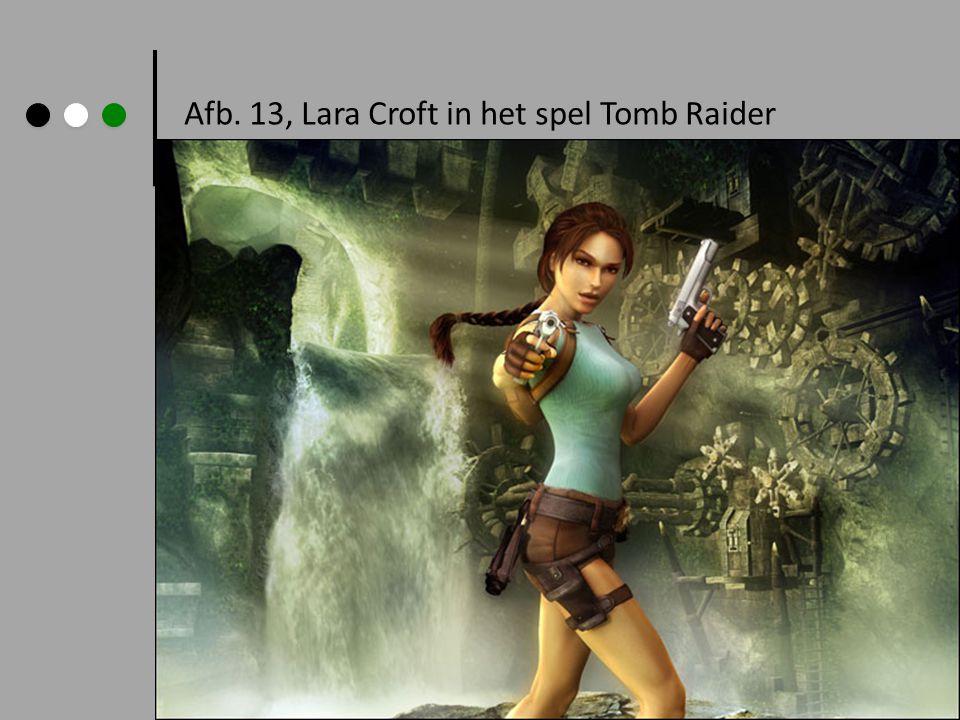 Afb. 13, Lara Croft in het spel Tomb Raider