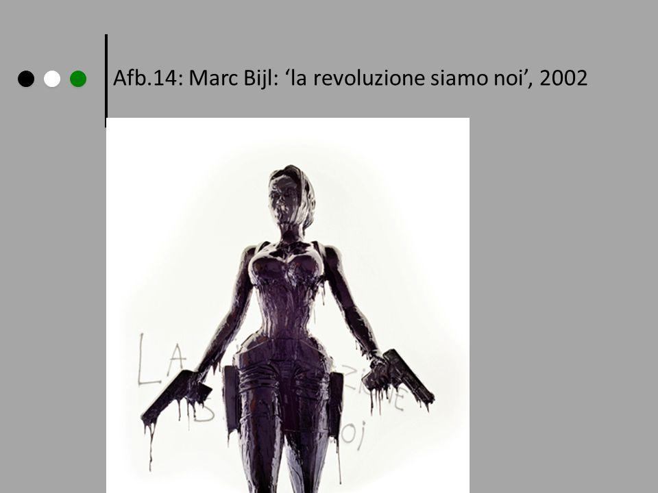 Afb.14: Marc Bijl: 'la revoluzione siamo noi', 2002