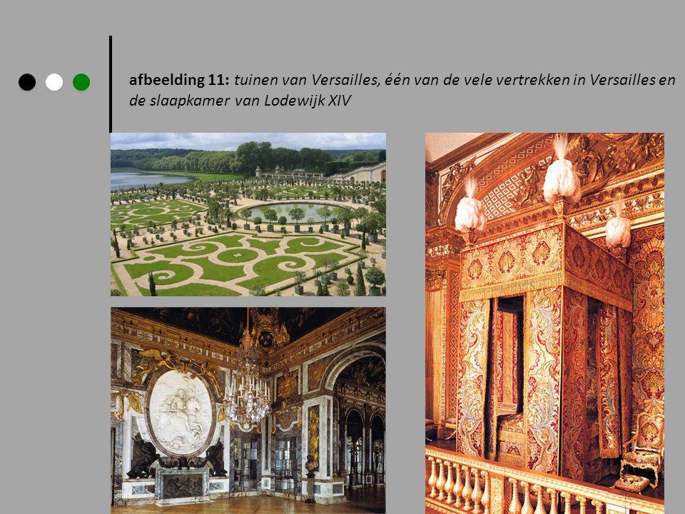 afbeelding 11: tuinen van Versailles, één van de vele vertrekken in Versailles en