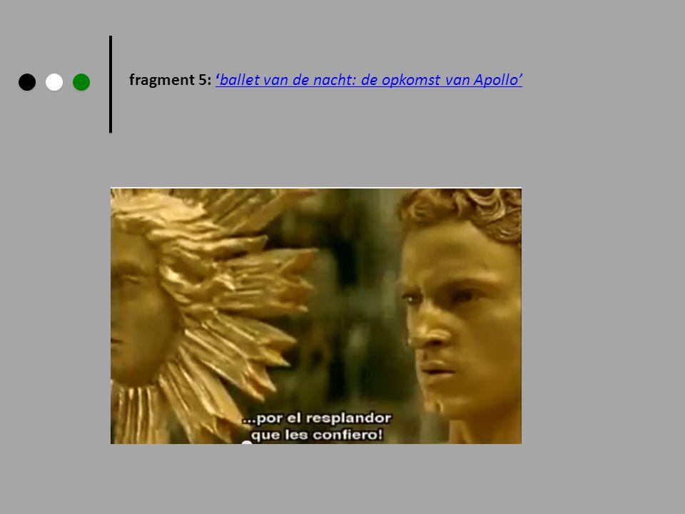 fragment 5: 'ballet van de nacht: de opkomst van Apollo'