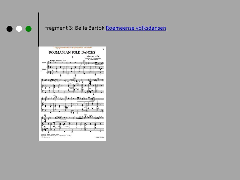 fragment 3: Bella Bartok Roemeense volksdansen