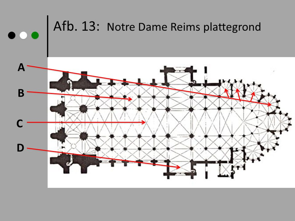 Afb. 13: Notre Dame Reims plattegrond