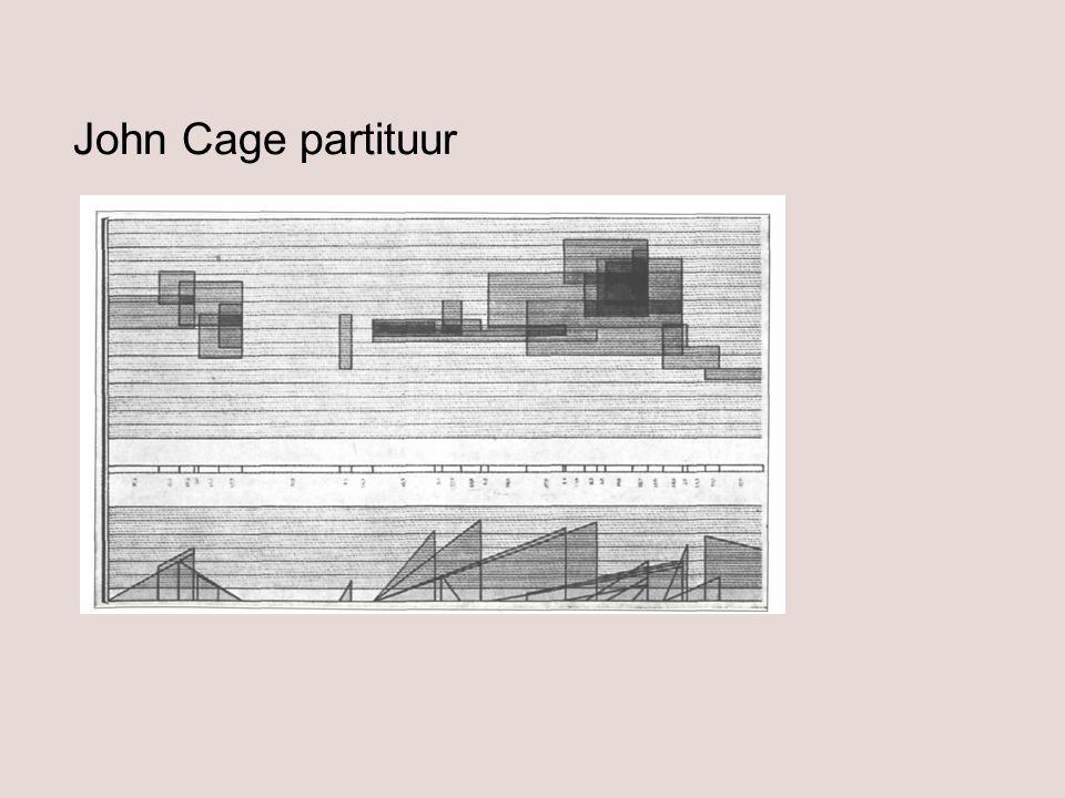 John Cage partituur
