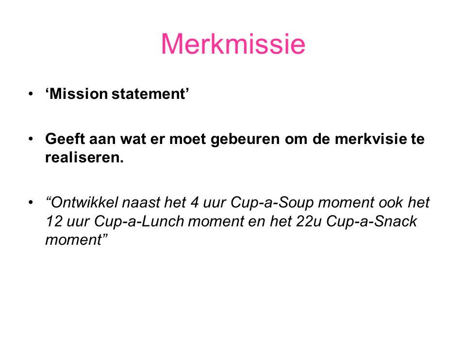 Merkmissie 'Mission statement'