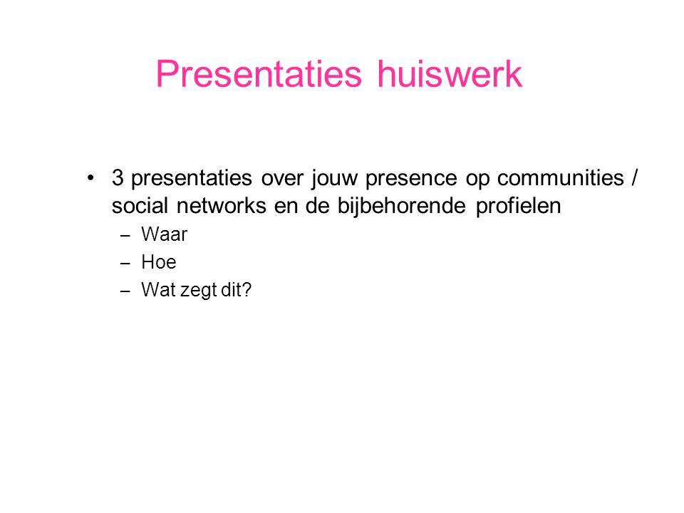 Presentaties huiswerk