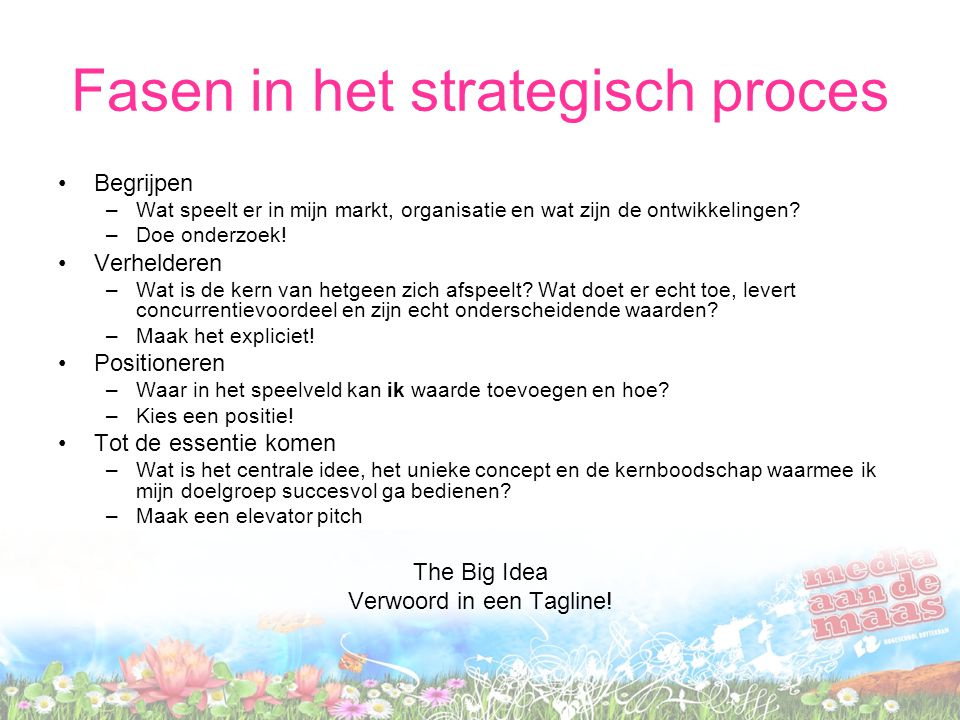 Fasen in het strategisch proces
