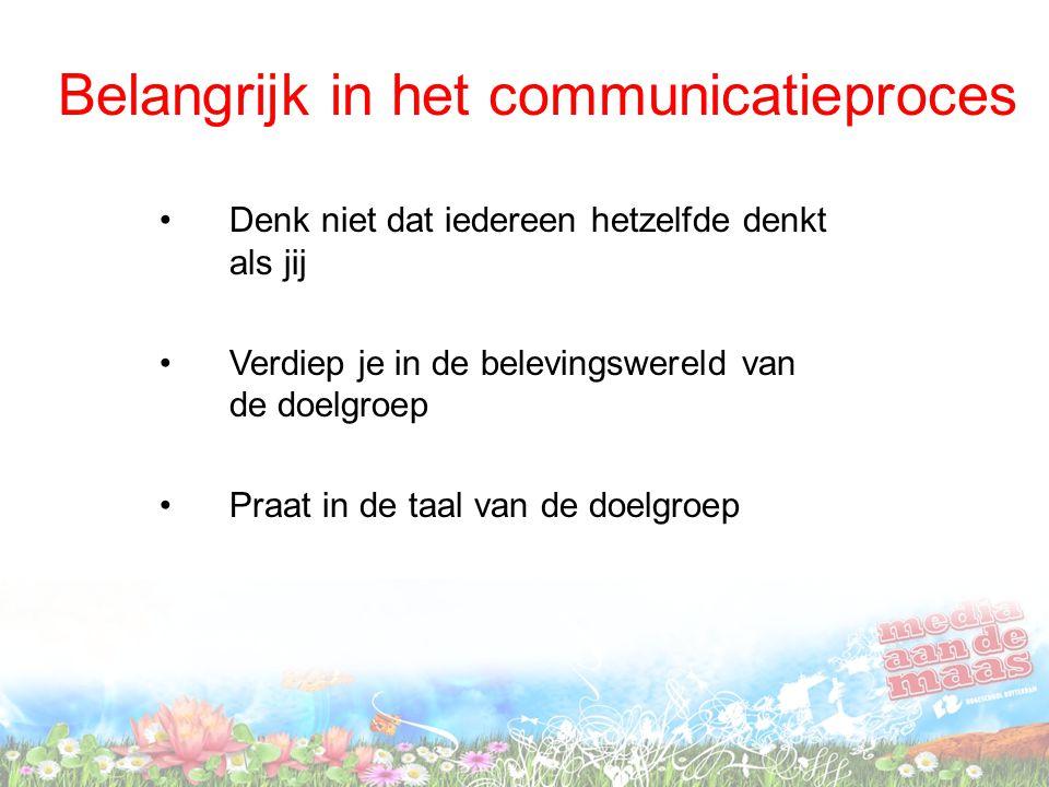 Belangrijk in het communicatieproces