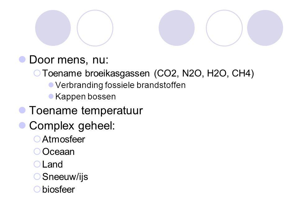 Door mens, nu: Toename temperatuur Complex geheel:
