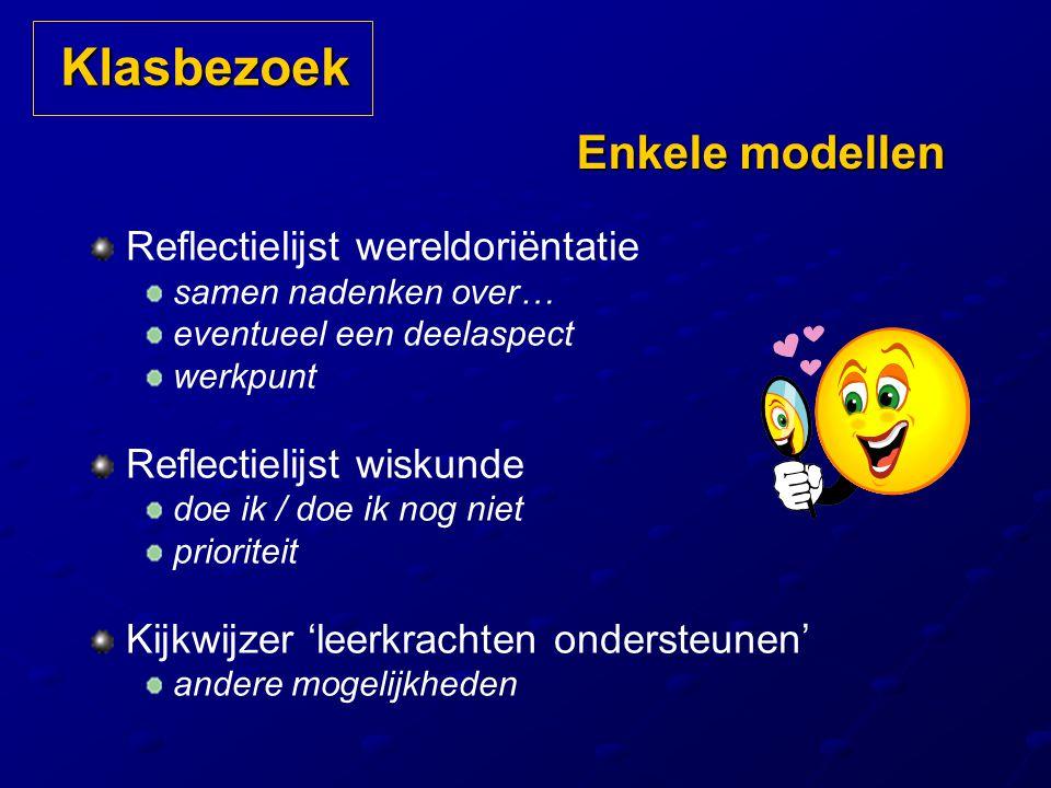 Klasbezoek Enkele modellen Reflectielijst wereldoriëntatie