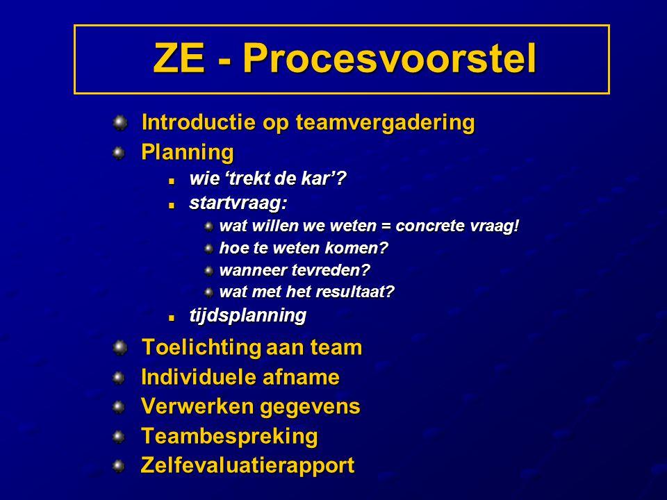 ZE - Procesvoorstel Introductie op teamvergadering