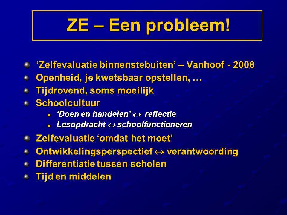 ZE – Een probleem! 'Zelfevaluatie binnenstebuiten' – Vanhoof - 2008