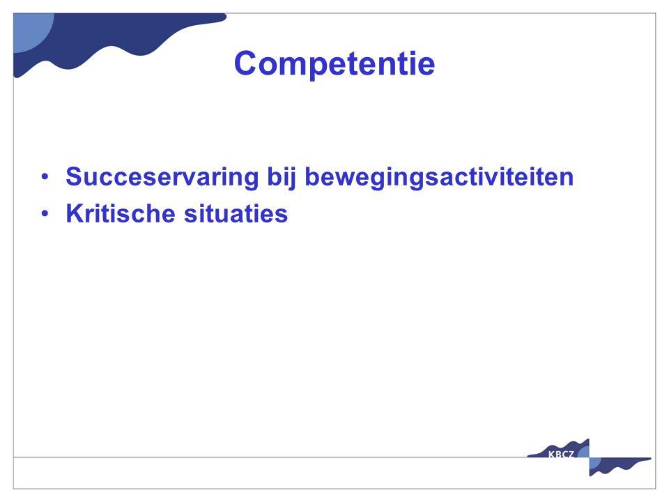Competentie Succeservaring bij bewegingsactiviteiten