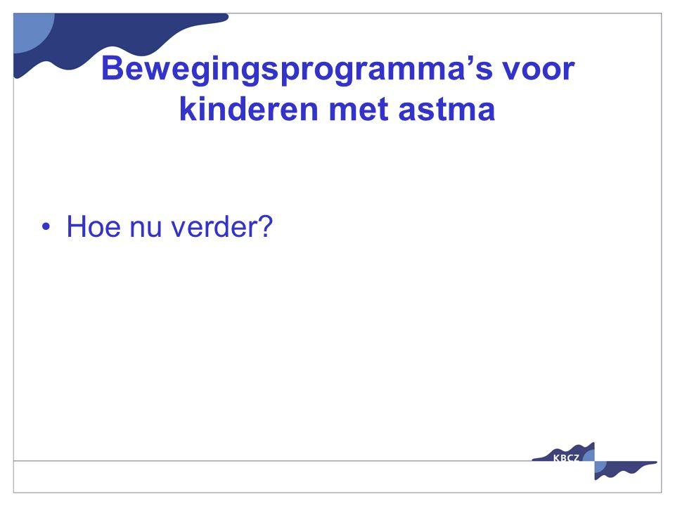 Bewegingsprogramma's voor kinderen met astma