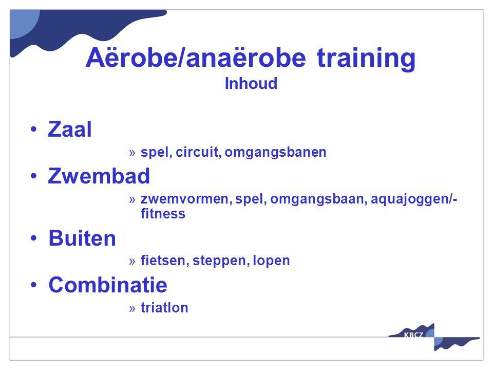 Aërobe/anaërobe training Inhoud