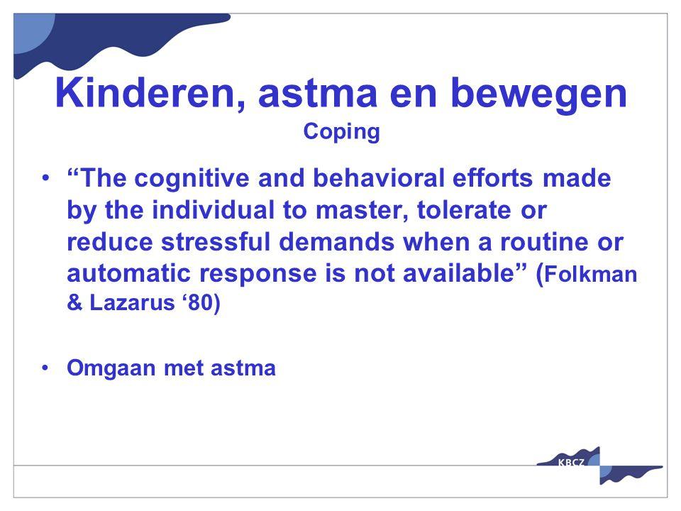 Kinderen, astma en bewegen Coping