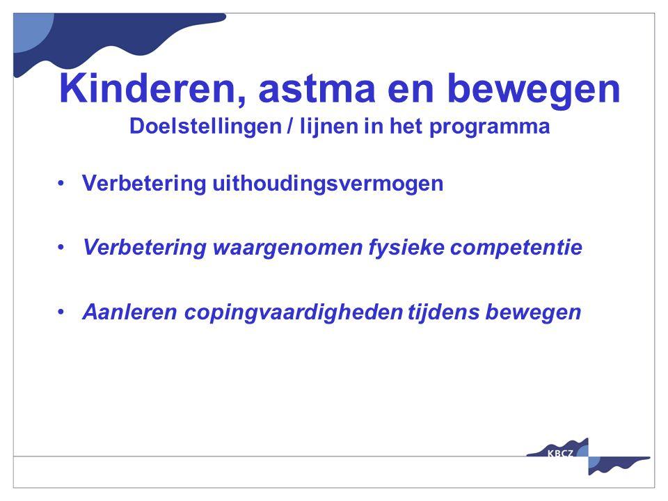 Kinderen, astma en bewegen Doelstellingen / lijnen in het programma