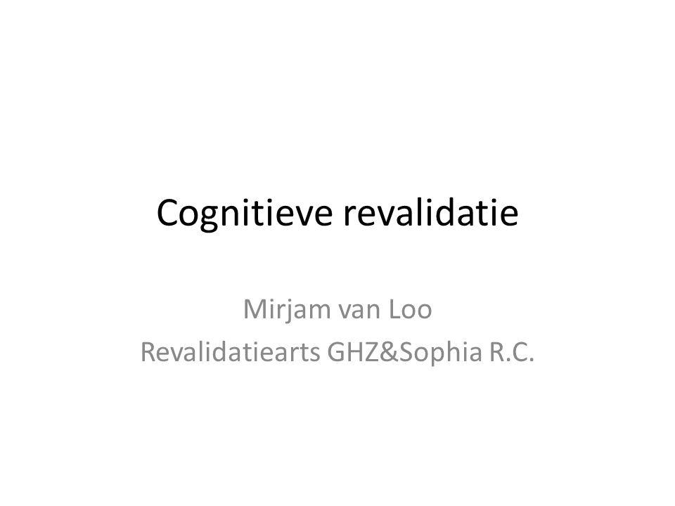 Cognitieve revalidatie