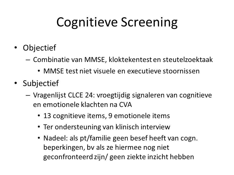 Cognitieve Screening Objectief Subjectief