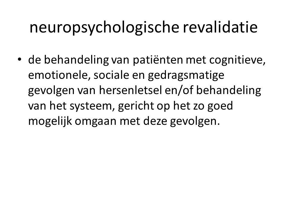 neuropsychologische revalidatie