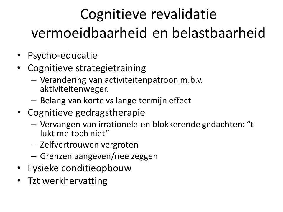 Cognitieve revalidatie vermoeidbaarheid en belastbaarheid
