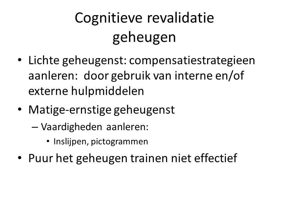 Cognitieve revalidatie geheugen