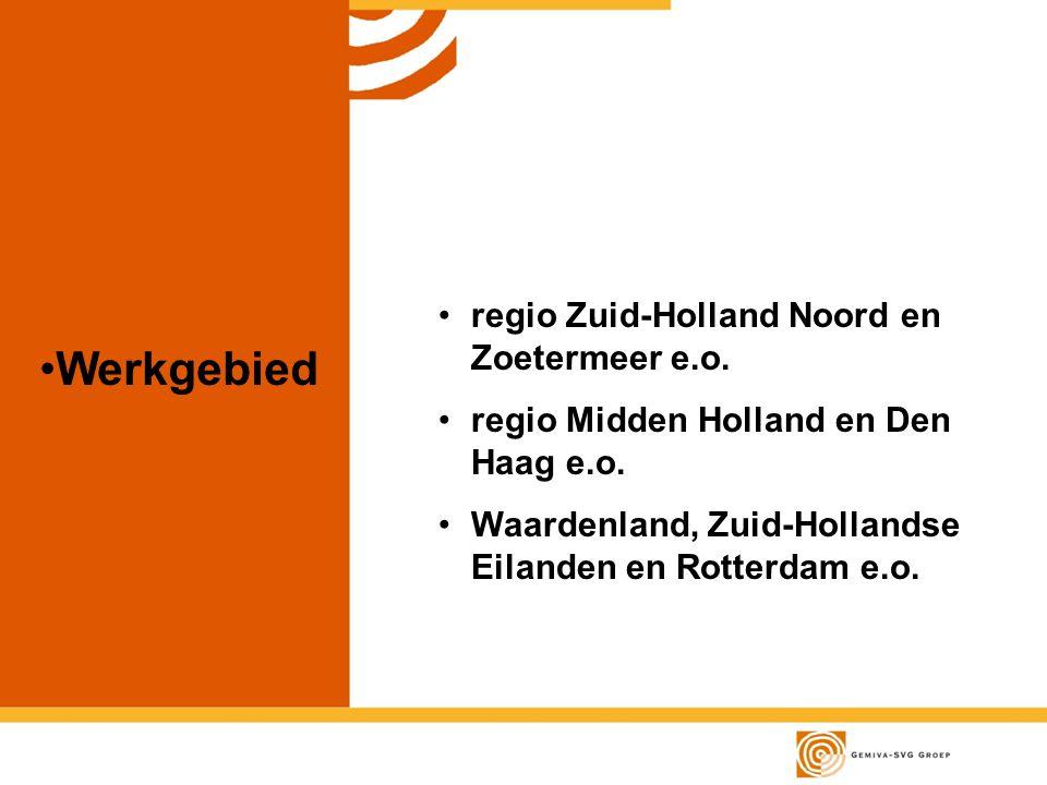 Werkgebied regio Zuid-Holland Noord en Zoetermeer e.o.