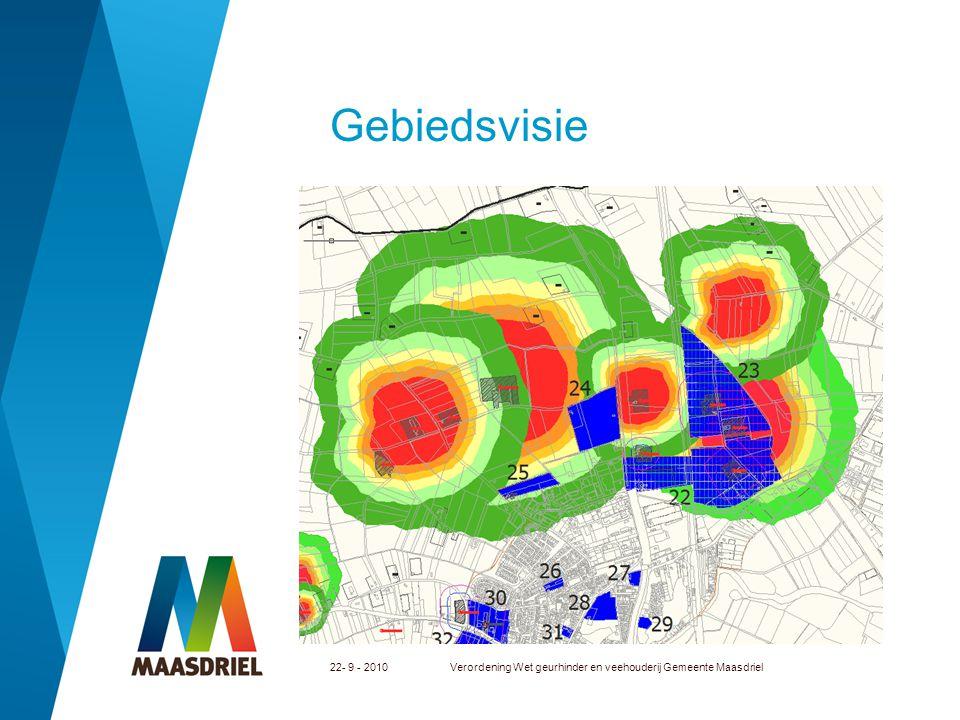 Gebiedsvisie 22- 9 - 2010 Verordening Wet geurhinder en veehouderij Gemeente Maasdriel