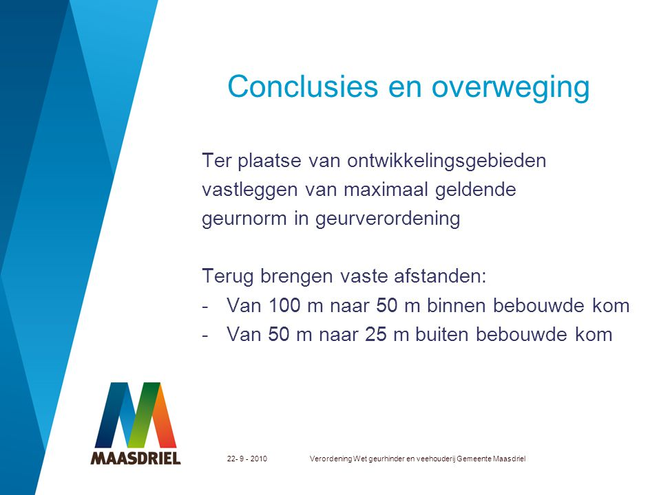 Conclusies en overweging