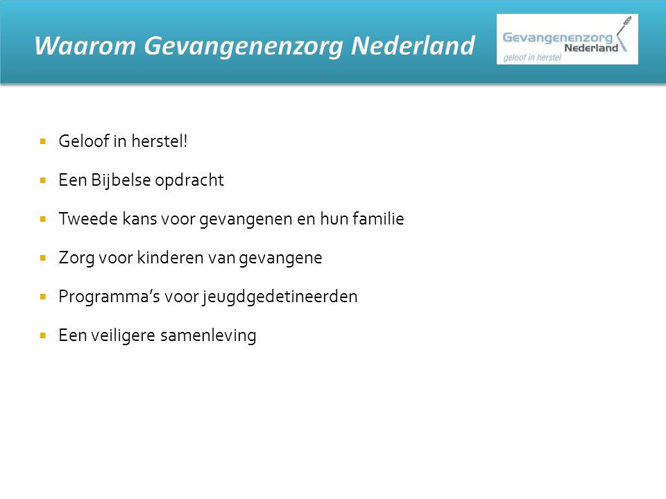 Waarom Gevangenenzorg Nederland