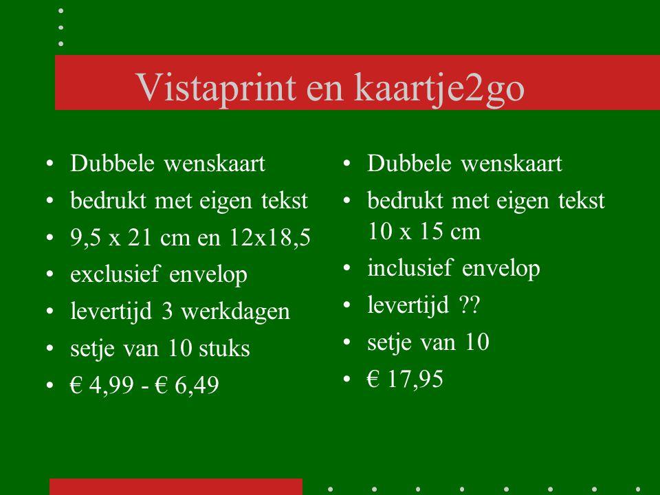 Vistaprint en kaartje2go
