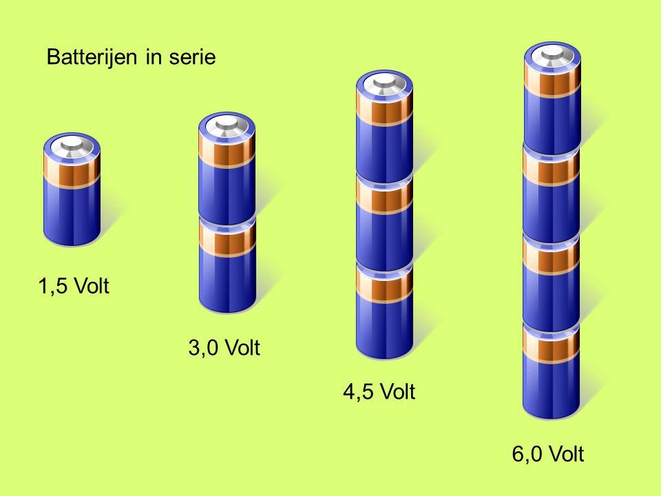 Batterijen in serie 1,5 Volt 3,0 Volt 4,5 Volt 6,0 Volt