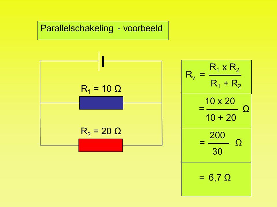 Parallelschakeling - voorbeeld