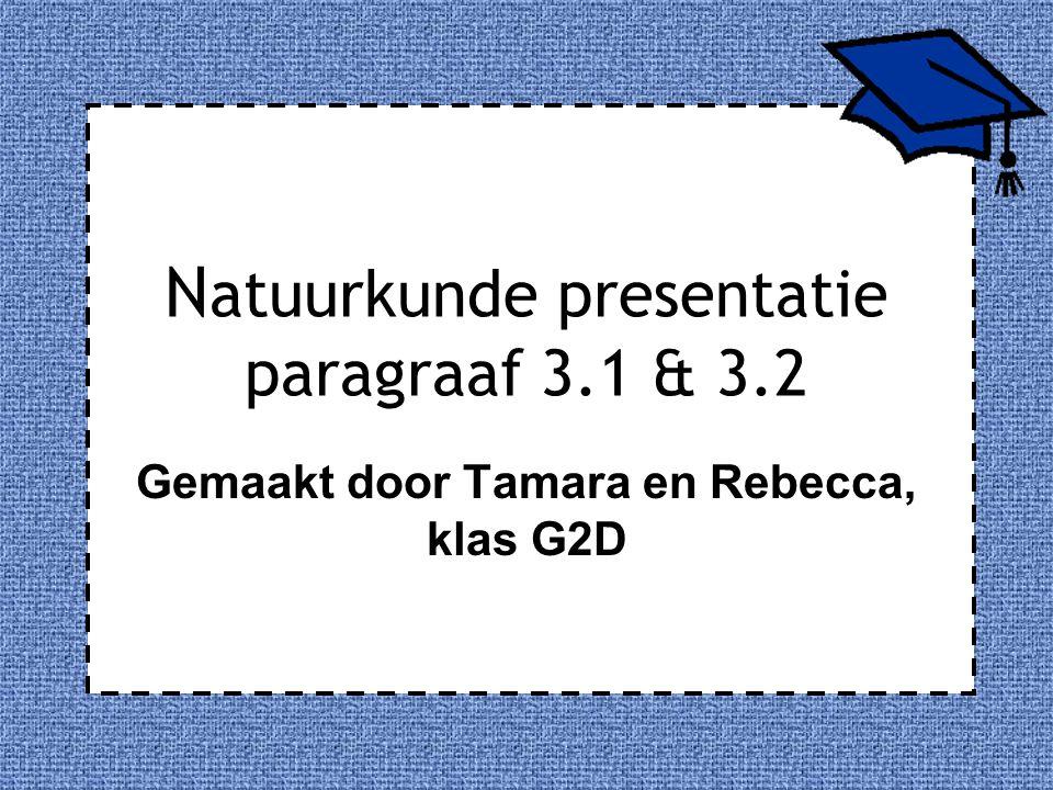 Natuurkunde presentatie paragraaf 3.1 & 3.2