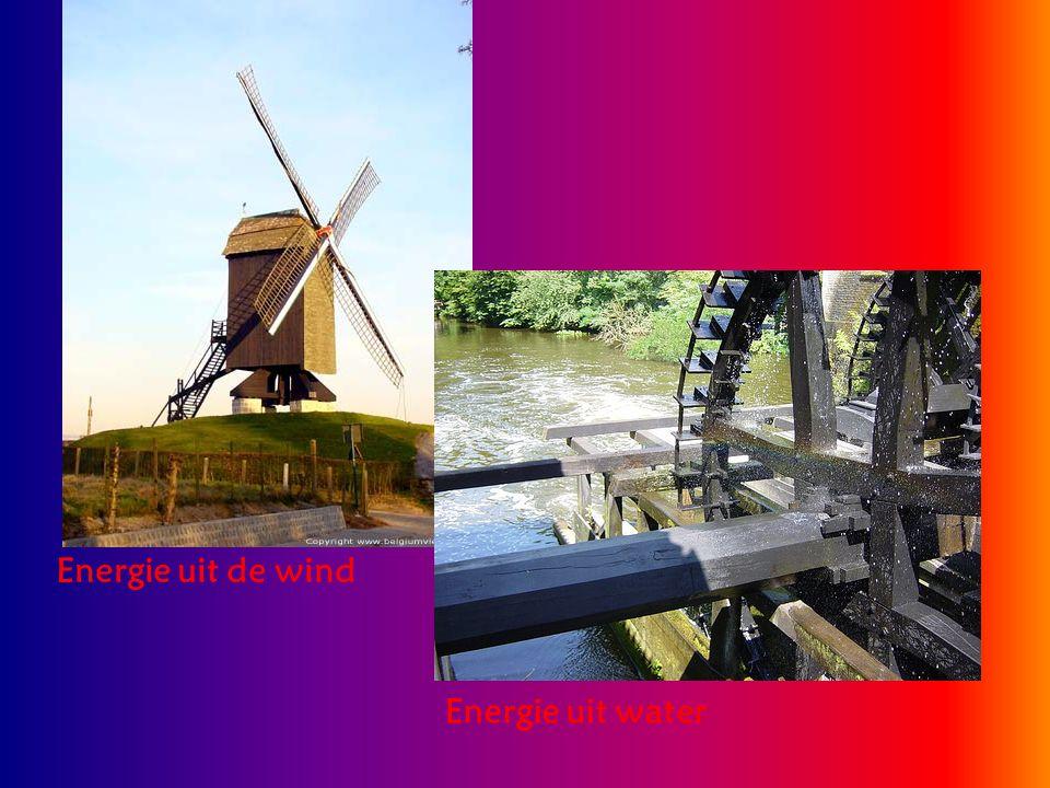 Energie uit de wind Energie uit water