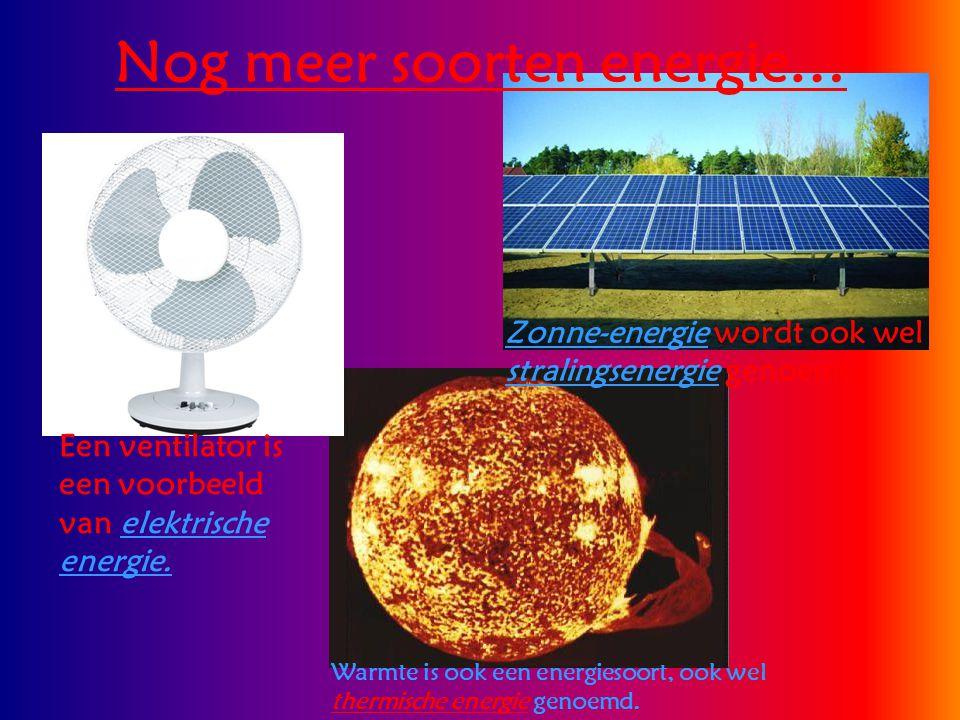 Nog meer soorten energie…
