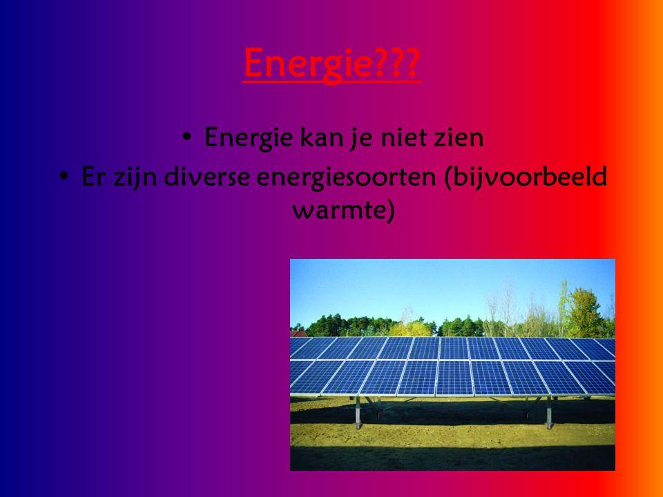 Energie Energie kan je niet zien