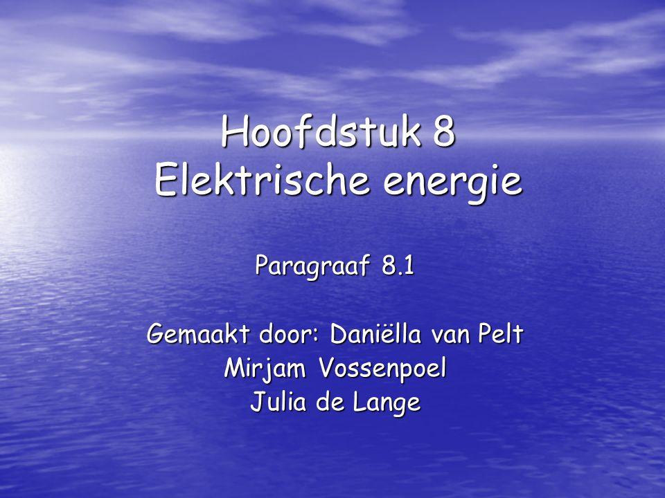 Hoofdstuk 8 Elektrische energie