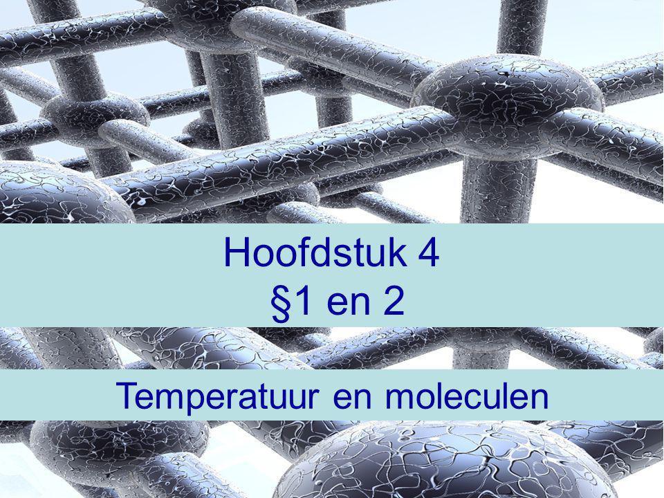 Temperatuur en moleculen