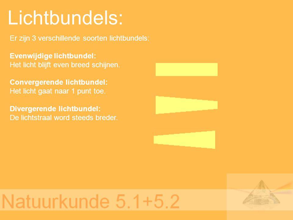 Lichtbundels: Er zijn 3 verschillende soorten lichtbundels: