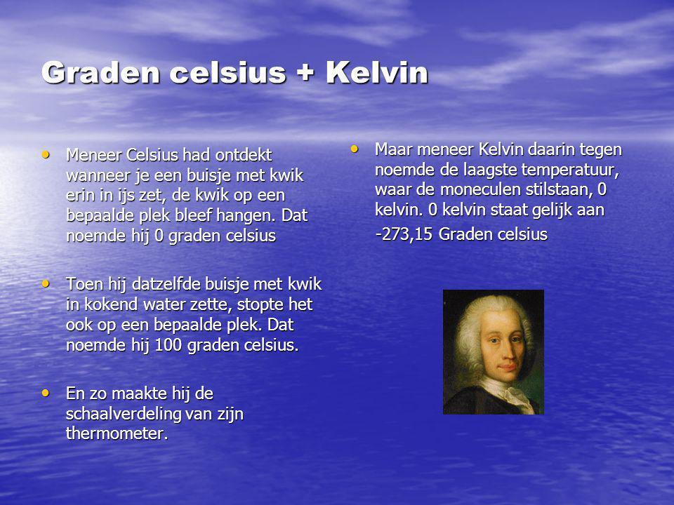 Graden celsius + Kelvin