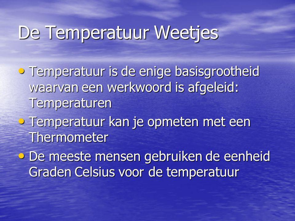 De Temperatuur Weetjes
